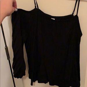 Black cold shoulder top
